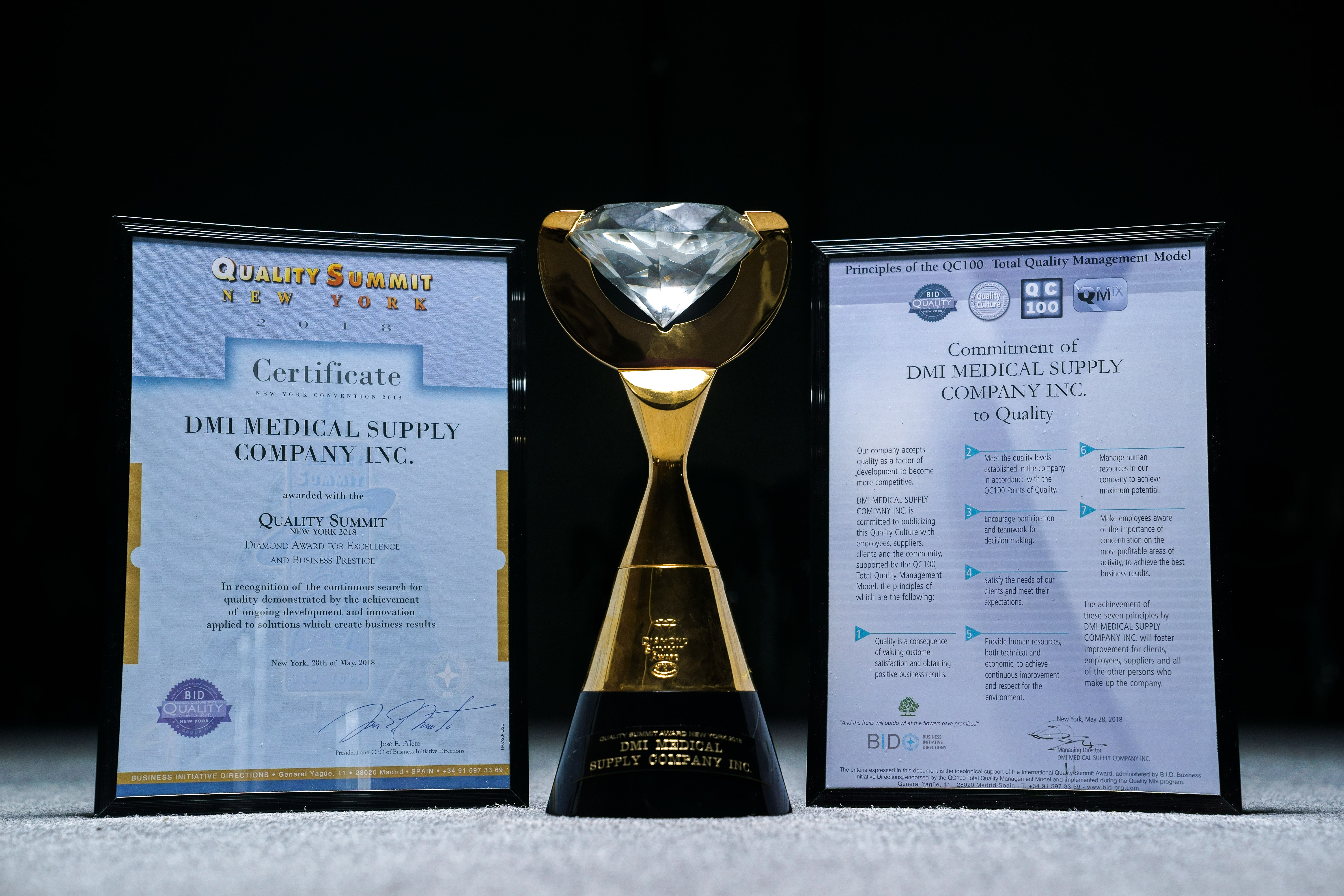 MX3 MAKER WINS 1Oth AWARD FROM THE INTERNATIONAL QUALITY SUMMIT IN NEW YORK