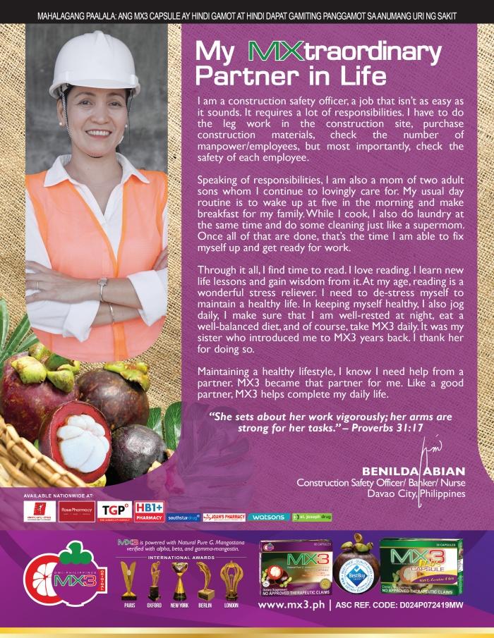 Benilda Abian-My MXtraordinary Partner in Life